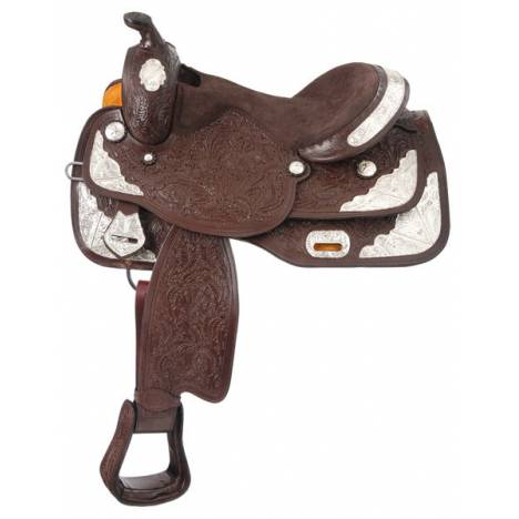 Tough-1 Seven Oaks Silver Show Saddle Wide Tree/Draft Cross Package