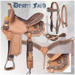 Silver Royal Desert Faith Barrel Saddle with  Brown Alligator Overlay Package