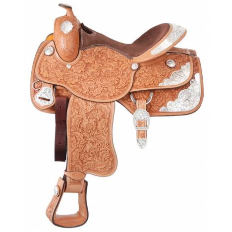 Silver Royal Premium Grandview Silver Show Saddle Package - Acorn/Floral