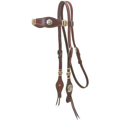 Cowboy Pro Scalloped Headstall With Rawhide
