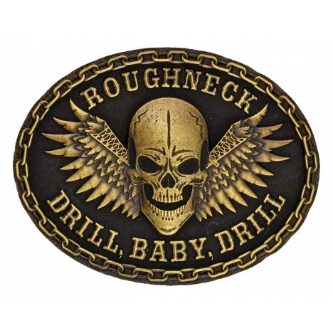 Montana Silversmiths Roughneck Drill Baby Drill Attitude Buckle