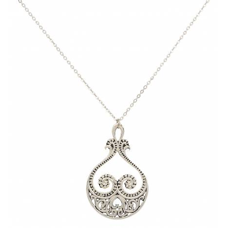 Montana Silversmiths Western Lace Paisley Hearts Necklace