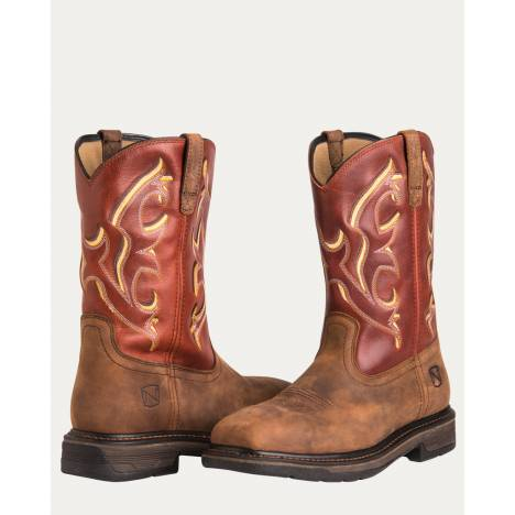 Noble Equestrian Ranch Tough Square Steel Toe Boot
