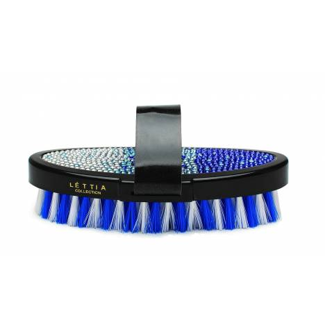 Lettia Blue Crystal Body Brush
