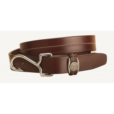 Tory Leather Fish Hook Buckle Leather Belt - Havana - 32