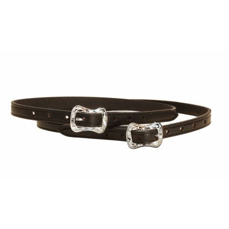 Tory Leather Spur Strap with Engraved Center Bar Buckle
