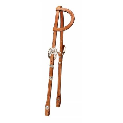 Tory Leather Albuquerque Classic One Ear Silver Headstall