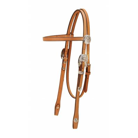 Tory Leather Albuquerque Classic Brow Band Silver Headstall