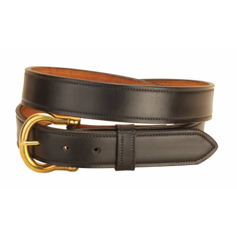 """Tory Leather 1-1/4"""" Double & Stitched Belt"""