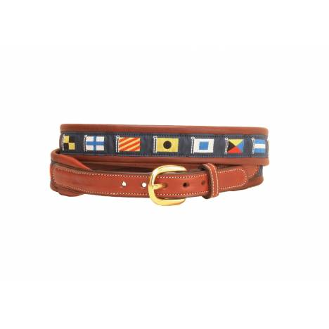 Tory Leather Padded Leather Nautical Belt