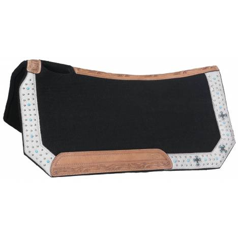 Silver Royal Desert Faith Wool Contoured Saddle Pad