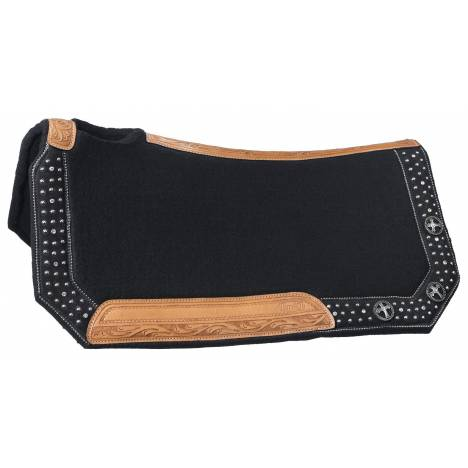 Silver Royal Midnight Run Wool Contoured Saddle Pad