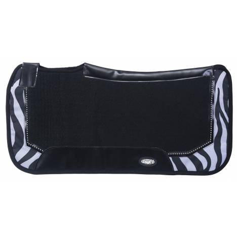 Tough-1 Air Flow Shock Absorber PVC Saddle Pad Prints With Dots Pad - Zebra