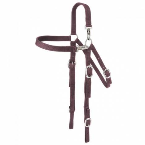 Tough-1 Nylon Mule Headstall With Snap Crown And Brow