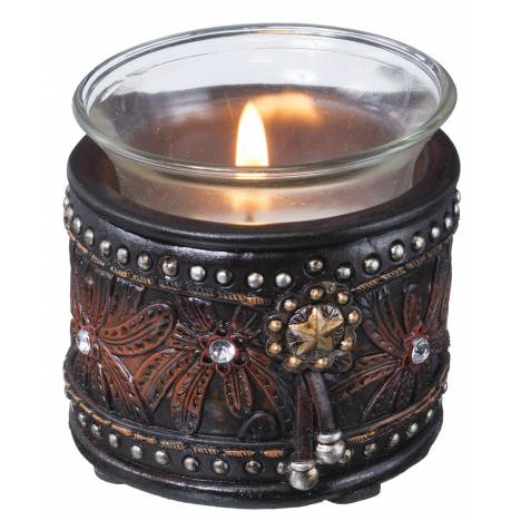 Gift Corral Leather and Stones Votive