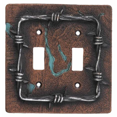 Gift Corral Barbwire Double Switchplate