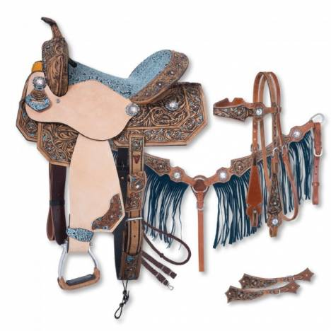 Silver Royal Skylar Barrel Saddle 5Pc Package