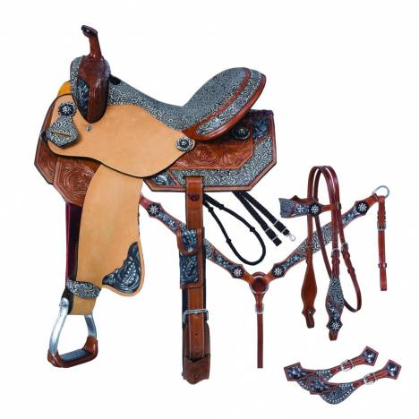 Silver Royal Jameson Barrel Saddle 5Pc Package