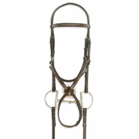 Ovation Figure 8 Bridle with Rubber Rein