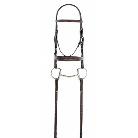 Ovation Fancy Stitched Raised Padded Bridle with Reins