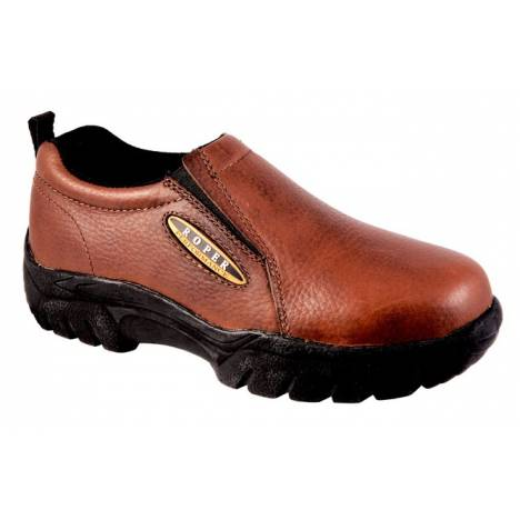 Roper Ladies Classic Slip-On Shoes - Bay Brown