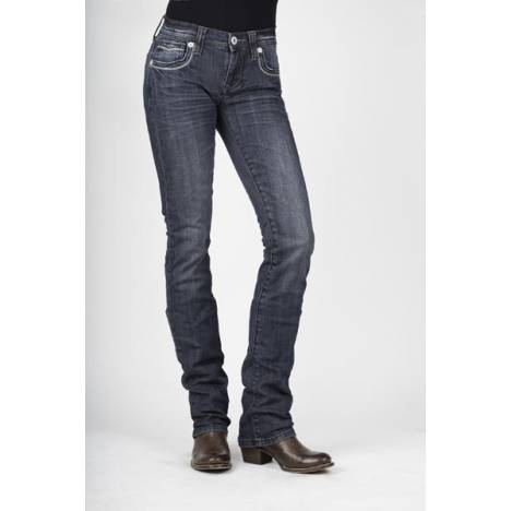 Stetson Ladies 541 Fit Stovepipe Jeans - Light Wash