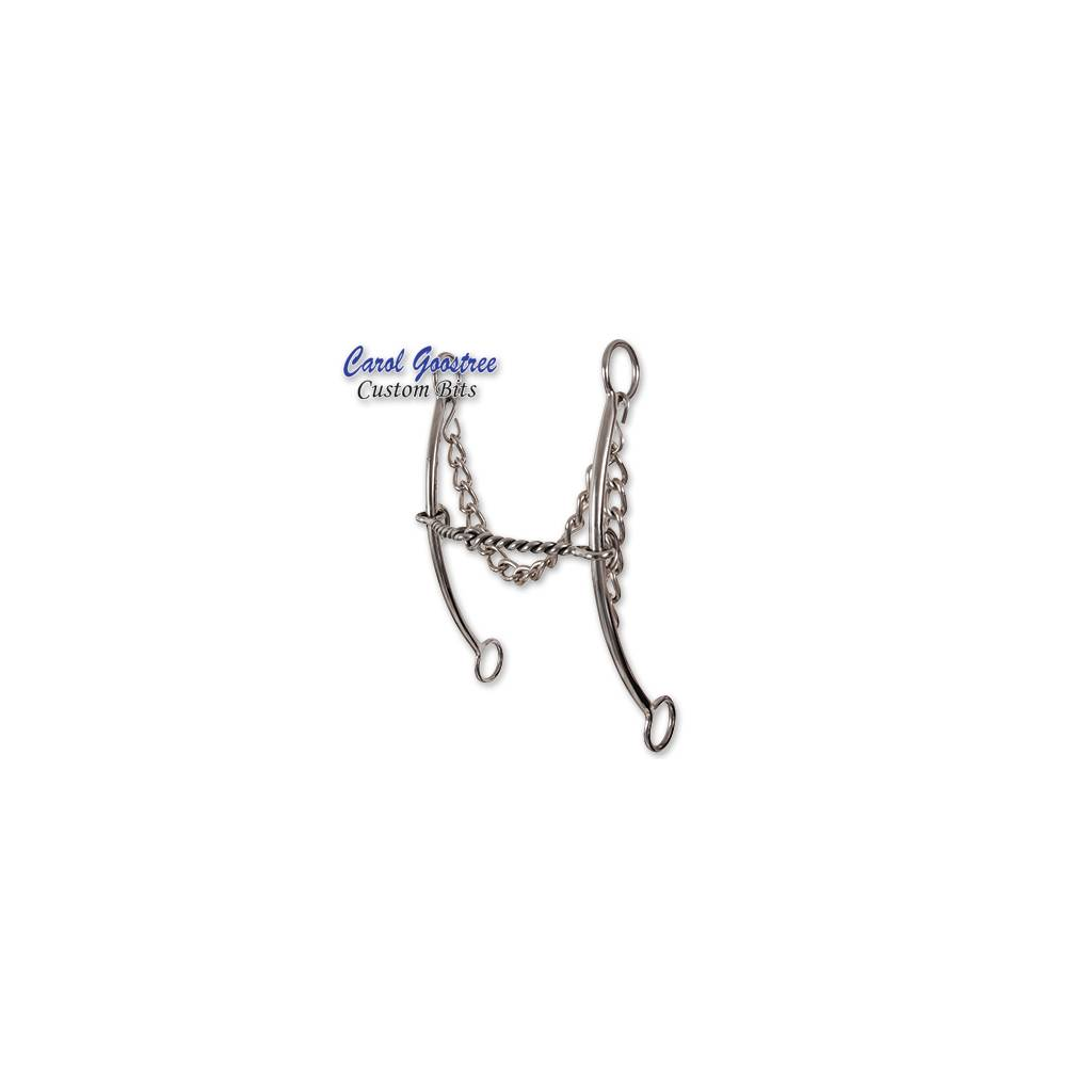 Classic Equine Goosetree Twisted Wire Pickup Long Shank Bit