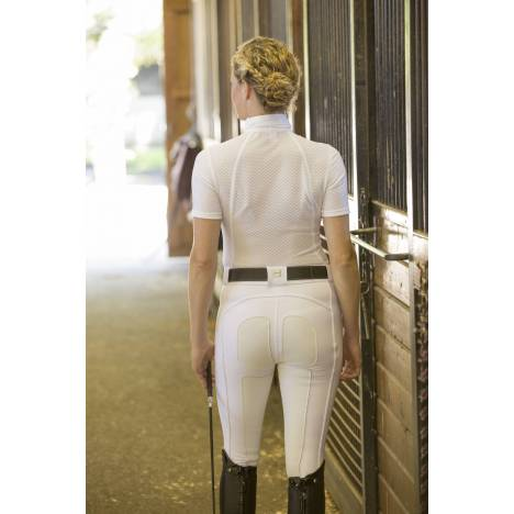 FITS Ladies PerforMAX Zip Front Breeches - White