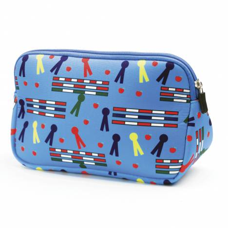 Tek Trek Neoprene Trianglular Cosmetic Case - Rails & Ribbons
