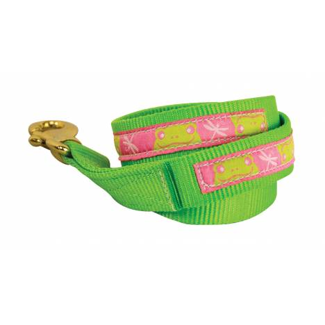 Perri's Nylon Ribbon Lead with Snap - Frogs