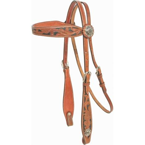 Cowboy Pro Hand Tooled Brow Headstall