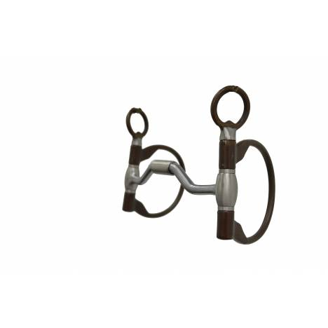 Metalab The Clinician Ported Hinged D-Ring Snaffle Bit