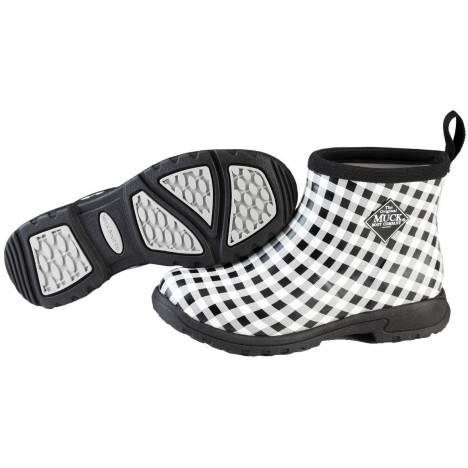 Muck Boots Ladies Breezy Ankle - Black Gingham