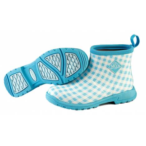 Muck Boots Ladies Breezy Ankle - Blue Gingham