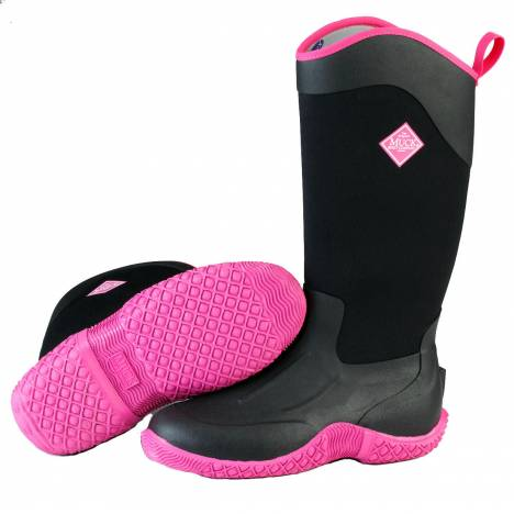 Muck Boots Ladies Tack II Tall - Black Hot Pink