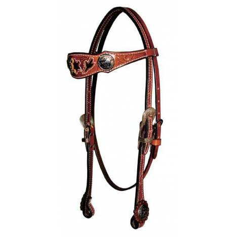 Reinsman Molly Powell Black Patent Inlay Browband Headstall