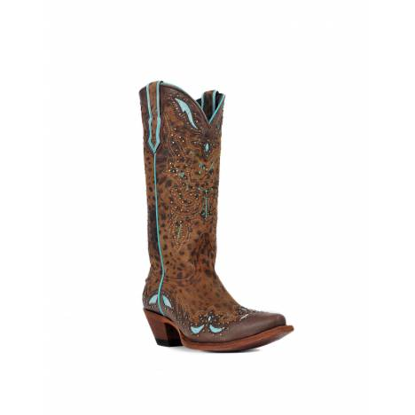 Johnny Ringo Womens Tan Cheetah Print Western Boots JR922-50T