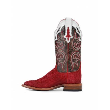 Cinch Womens Red Python CFW534 Western Boots