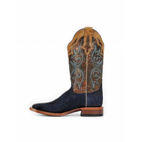 Cinch Womens Navy Suede Python CFW533 Western Boots