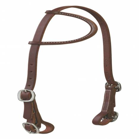 Weaver Working Cowboy Sliding Ear Headstall with Buckle Bit Ends