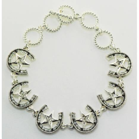 Western Edge Jewelry Star & Horseshoe Bracelet