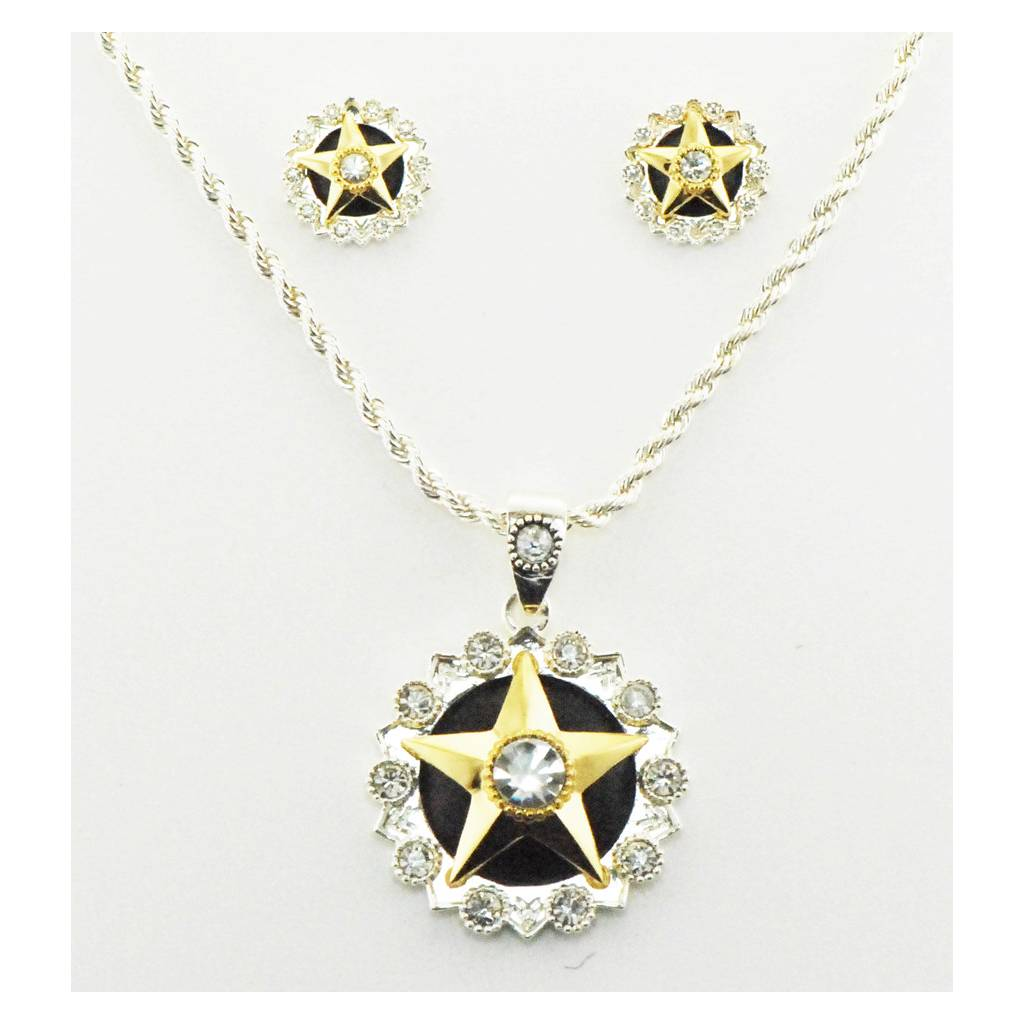 Western Edge Jewelry Crystal Center Star Jewlery Set