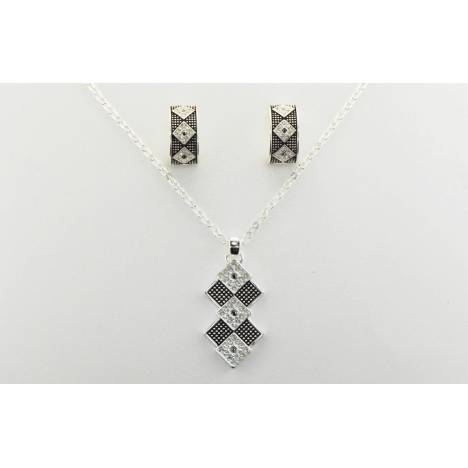 Western Edge Jewelry Diamond Stone Jewelry Set