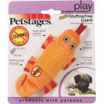 Petstages Stuffing Free Lizard Dog Toy