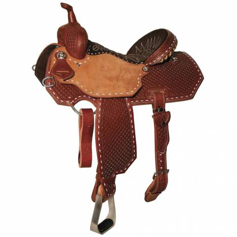 Reinsman 4286 Charmayne James Barrel Racer Saddle-Waffle Diamond