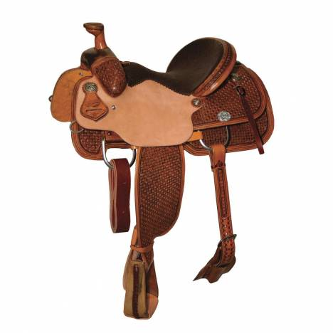 Reinsman 4407 Team Roper Saddle-Diamond Waffle