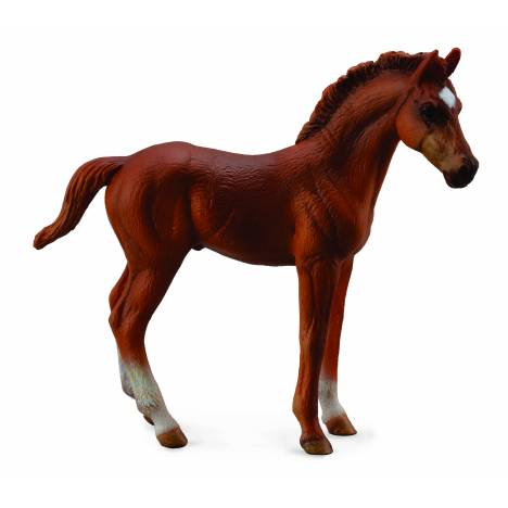 CollectA Thoroughbred Foal Standing Chestnut