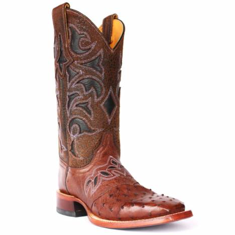 Cinch Boots Womens Cfw571 Saddle Vamp Ostrich Boot