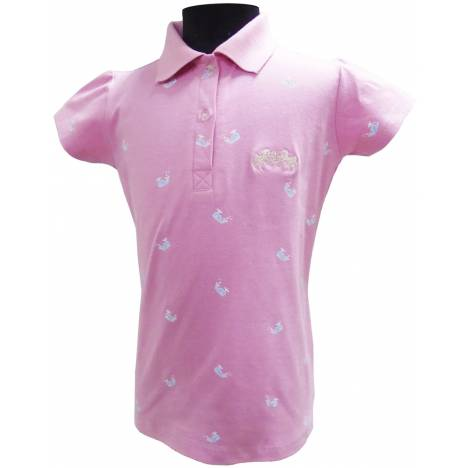 Equine Couture Whale Childs Short Sleeve Polo Shirt
