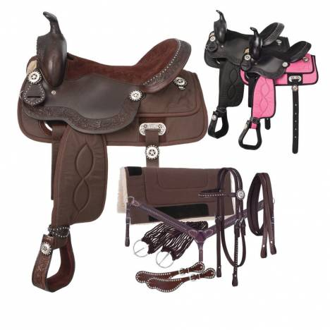 Tough-1 Eclipse Pro Trail Saddle 7 Piece Package